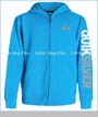 Quiksilver, Mountain & Wave Fleece Zip Hoodie in Neon Blue (c)