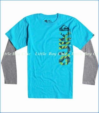 Quiksilver, Triangular 2fer Tee in Hawaiian Ocean Heather
