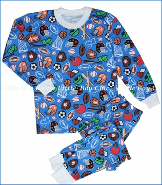 Sara's Prints, Sports Blue Loose Fitting Pajama (c)