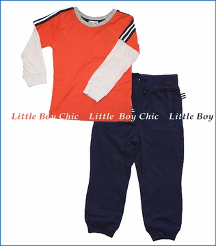 Splendid Littles, Two For Top with Pant Set in Orange