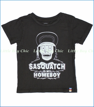 Tiny Whales, Sasquatch Homeboy Tee in Vintage Black