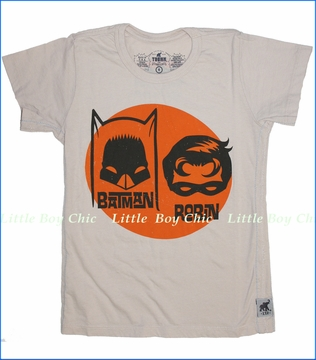 Trunk, Batman Masks Tee in Bone (c)