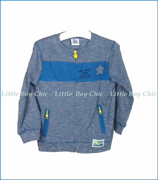 Tuc Tuc, Not Only For Surfers Striped Jersey Sweatshirt in Blue