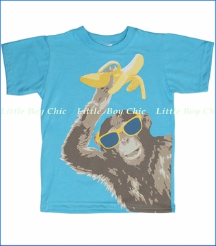 Tumbleweed, Monkey Tee in River Blue (c)