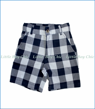 Wes and Willy, Buffalo Checkered Plaid Shorts in Blue