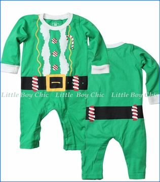 Wes and Willy, Elf Romper in Green