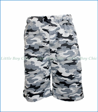 Wes and Willy, French Terry Shorts in Camo