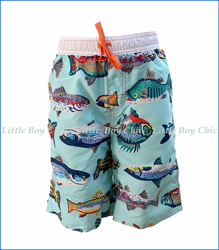 Wes and Willy, Fresh Water Fish Trunk in Blue