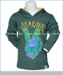 Wes and Willy, L/S Imagine Jersey Hoodie in Green