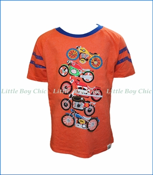 Wes and Willy, Motocross Raglan T-Shirt in Orange Crush