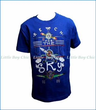 Wes and Willy, Reach For Sky T-Shirt in Blue Moon
