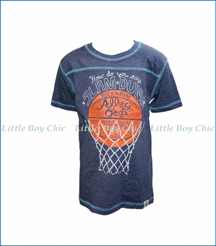 Wes and Willy, S/S Slam Dunk T-Shirt in Blue