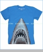 Wes and Willy, Shark Tee in UC Blue (c)
