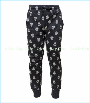 Wes and Willy, Skull Pant in Black