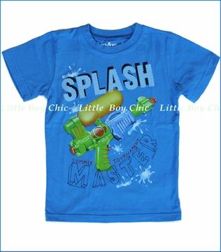 Wes and Willy, Splash Master Tee in UC Blue (c)