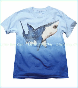 Wes & Willy, Big Shark Tee in NC Blue (c)