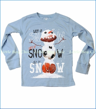 Wes & Willy, Let It Snow Tee in NC Blue