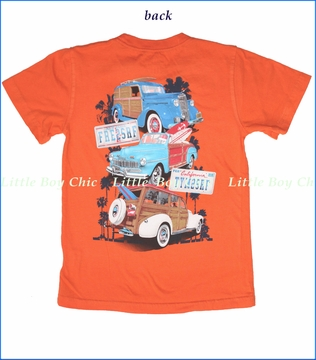 Wes & Willy, Surf Rides Tee in Orange Crush (c)