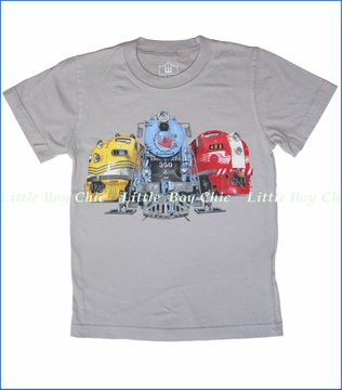 Wes & Willy, Train Stop Tee in Steel (c)
