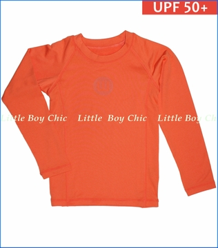 Wes & Willy, UPF 50+ Long Rash Guard in Tangerine (c)
