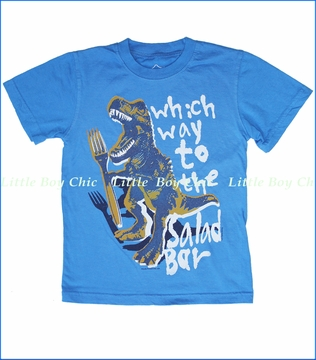 Wes & Willy, Veggie Rex Tee in UC Blue (c)