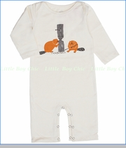Winter Water Factory, Beavers Organic Coverall in Natural (c)