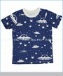 Winter Water Factory, Outer Space Tee in Midnight Blue (c)