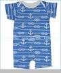 Winter Water Factory, Ropes and Anchors Romper in Ocean Blue (c)