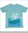 Winter Water Factory, Whale Tee in Turquoise (c)
