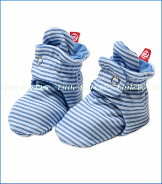 Zutano, Periwinkle Candy Stripe Booties