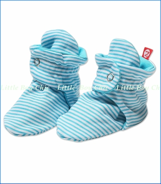Zutano, Pool Candy Stripe Booties