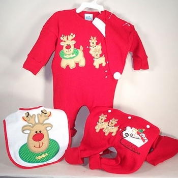 1st Christmas Reindeer Outfit
