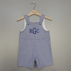 Baby Boy Blue Overall Shorts (Can be Personalized)