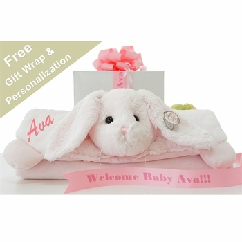 Baby Bunny Personalized Blanket