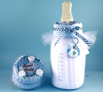 Baby Cake and Bottle Set For Boys