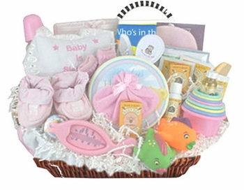 Baby Girl Bath Time Basket