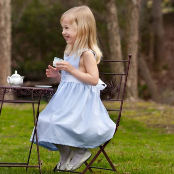Baby Girl Blue Gingham Dress (Can Be Personalized)