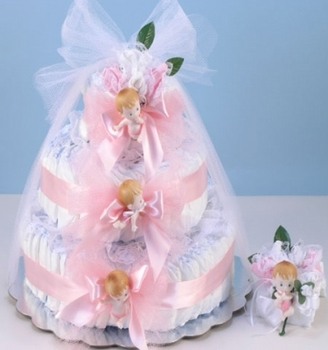 Baby Girl Cake With Corsage