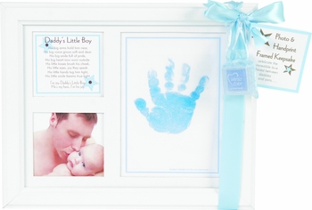 Baby Handprint Frame For Daddy's Little Boy