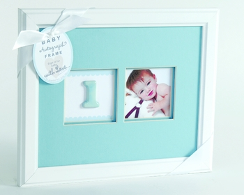 Baby Picture Frame With Autographs (Pink or Blue)