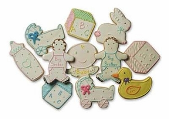 Baby Shower Cookies with 16 Cute Baby Designs