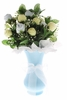 Baby Sock Bouquet With Vase in Pink Blue Yellow or White