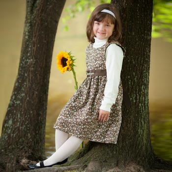 Chocolate Floral Girl's Sundresses (Can Be Personalized)