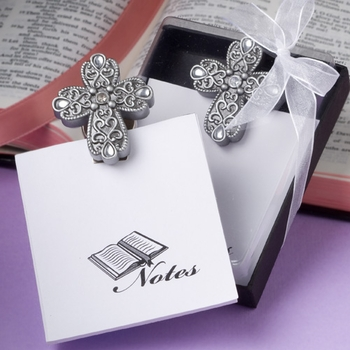 Cross Design Notepad Favors