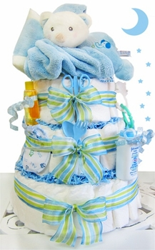 Cuddle Bear Diaper Cake In Blue
