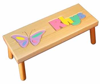 Custom Butterfly Baby Name Seat