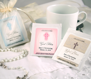 Custom Christening Or Baptism Tea Bags (20 Designs Available)