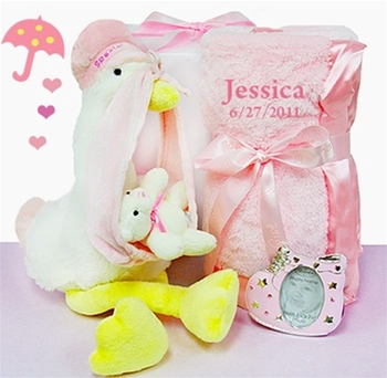 Cute Delivery Personalized Blanket Set