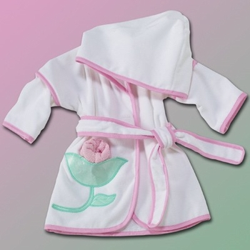Cute Flowers Hooded Bath Robe (Can be personalized)