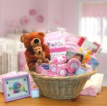 Deluxe Newborn Girl Basket